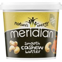 Meridian Smooth Cashew Butter (1000g Tub) Energy & Recovery Food