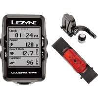 Lezyne Macro Cycle GPS with Mapping Loaded Bundle GPS Cycle Computers