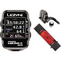 Lezyne Micro Colour Cycle GPS with Mapping HRSC Loaded GPS Cycle Computers