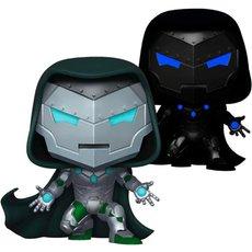 infamous iron man / marvel / figurine funko pop / exclusive px preview / gitd