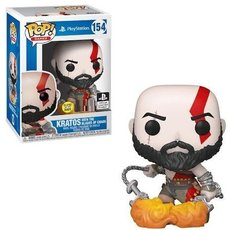 kratos with blades of chaos / god of war / figurine funko pop / exclusive special edition / gitd