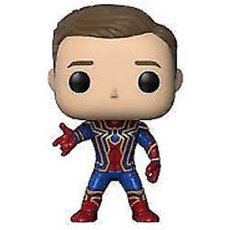 iron spider unmasked / avengers infinity war / figurine funko pop / exclusive