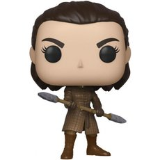 arya avec lance a deux tetes / game of thrones / figurine funko pop