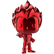 super saiyan vegeta chrome rouge / dragon ball z / figurine funko pop / exclusive sdcc 2019