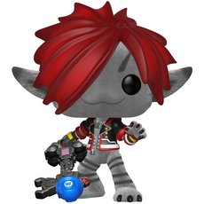 sora monsters inc / kingdom hearts / figurine funko pop / exclusive special edition / flocked