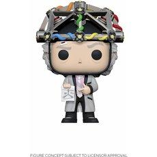 doc emmet brown avec casque / retour vers le futur / figurine funko pop