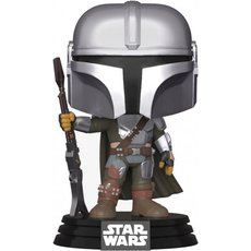 the mandalorian avec arme / star wars the mandalorian / figurine funko pop