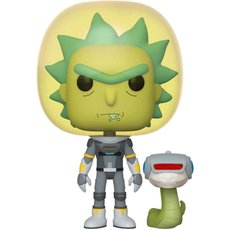 space suit rick avec serpent / rick et morty / figurine funko pop