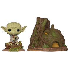 dagobah yoda with hut / star wars / figurine funko pop