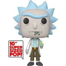rick with portal gun super oversized / rick et morty / figurine funko pop / exclusive special edition