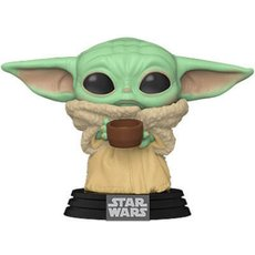bÉbÉ yoda (the child) with cup / star wars the mandalorian / figurine funko pop