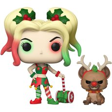 harley quinn with helper / super heroes / figurine funko pop