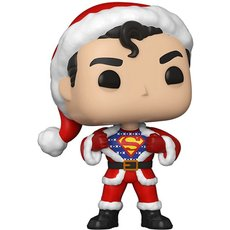 superman in holiday sweater / super heroes / figurine funko pop