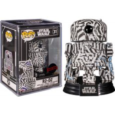 r2-d2 futura with pop protector / star wars / figurine funko pop / exclusive special edition