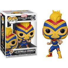 la estrella cosmica captain marvel / marvel luchadores / figurine funko pop