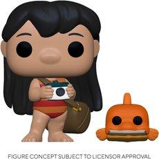 lilo with pudge / lilo et stitch / figurine funko pop
