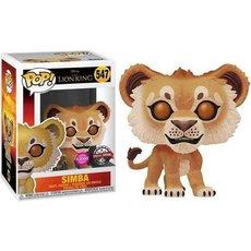 simba / le roi lion / figurine funko pop / exclusive special edition / flocked
