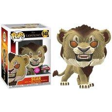 scar / le roi lion / figurine funko pop / exclusive special edition / flocked
