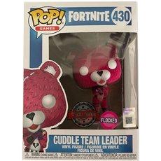 cuddle team leader / fortnite / figurine funko pop / exclusive special edition / flocked