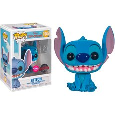 stitch smiling / lilo et stitch / figurine funko pop / exclusive special edition / flocked