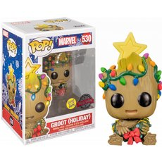 groot holiday/ marvel / figurine funko pop / exclusive special edition / gitd