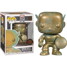 captain america patina / marvel 80 years / figurine funko pop / exclusive special edition