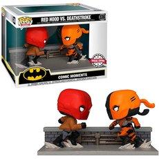 red hood vs deathstroke / batman comic moments / figurine funko pop / exclusive special edition