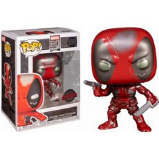 deadpool first appearance metallic / marvel 80 years / figurine funko pop / exclusive special edition