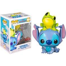 stitch with frog / lilo et stitch / figurine funko pop / exclusive special edition