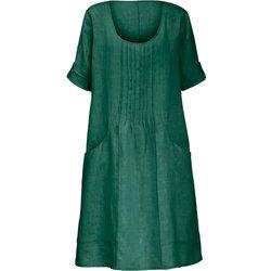 bei Peter Hahn: Kleid aus 100% Leinen 3/4-Arm Anna Aura grün - Kurzgrößen