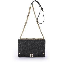bei Peter Hahn: Umhängetasche aus 100% Leder Aigner schwarz - Damentaschen