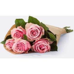 Rosenstrauß Rosen in Rosa 5 Stiele