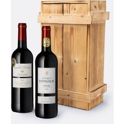 Edles Set mit 2 Flaschen französischem Rotwein