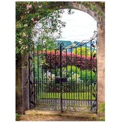 Gartengemälde Parklandschaft 130 x 70 Zentimeter