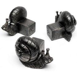 Kübelfuß Bronzeoptik 3er-Set Schneckchen, 5,5x6,5x8,5 Zentimeter