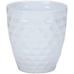 Scheurich Keramik-Orchideengefäß Alaska, rund, 12,3x10x5x10,5 Zentimeter, weiß