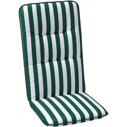 Best Hochlehner Auflage Porto, gestreift, 120x50x6 Zentimeter, grün weiss