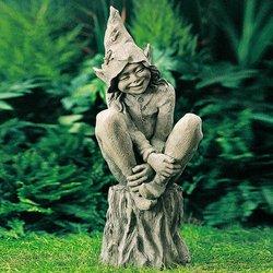 Gartenfigur Elf Happy