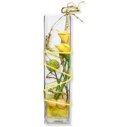 Deko-Vase Calla Gelb (50cm)