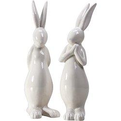 2er Set Keramik-Osterhasen