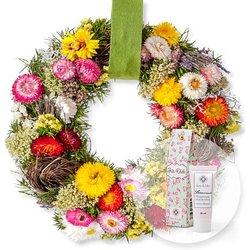 Türkranz Herbstleuchten (28cm) und Blütenrausch Pfingstrosen-Handcreme Für Dich