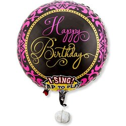 Singender Ballon Happy Birthday Glamour