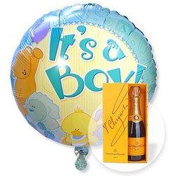 Ballon Babyboy und Champagner Veuve Clicquot