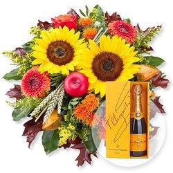 Goldener Herbst und Champagner Veuve Clicquot