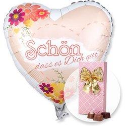 Ballon Schön, dass es dich gibt! und Belgische Pralinen-Auslese