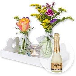Vasen-Set Alles Liebe und Freixenet Semi Seco