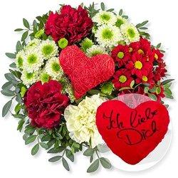 Herzensgruß und Kuschel-Herz Ich liebe Dich