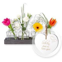Vasen-Set Frühlingszauber und Vintage-Herz Schön, dass es Dich gibt!
