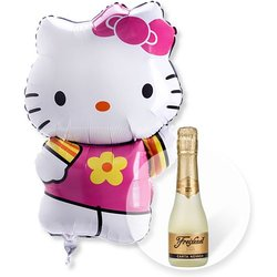Ballon Hello Kitty und Freixenet Semi Seco