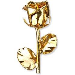 Personalisierte vergoldete Rose